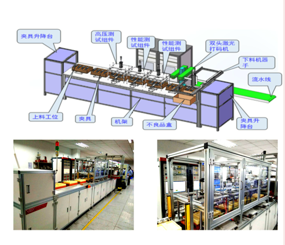 大功率电源四站一体化自动生产线